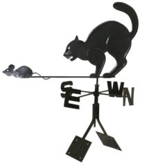 Флюгер на крышу Кот
