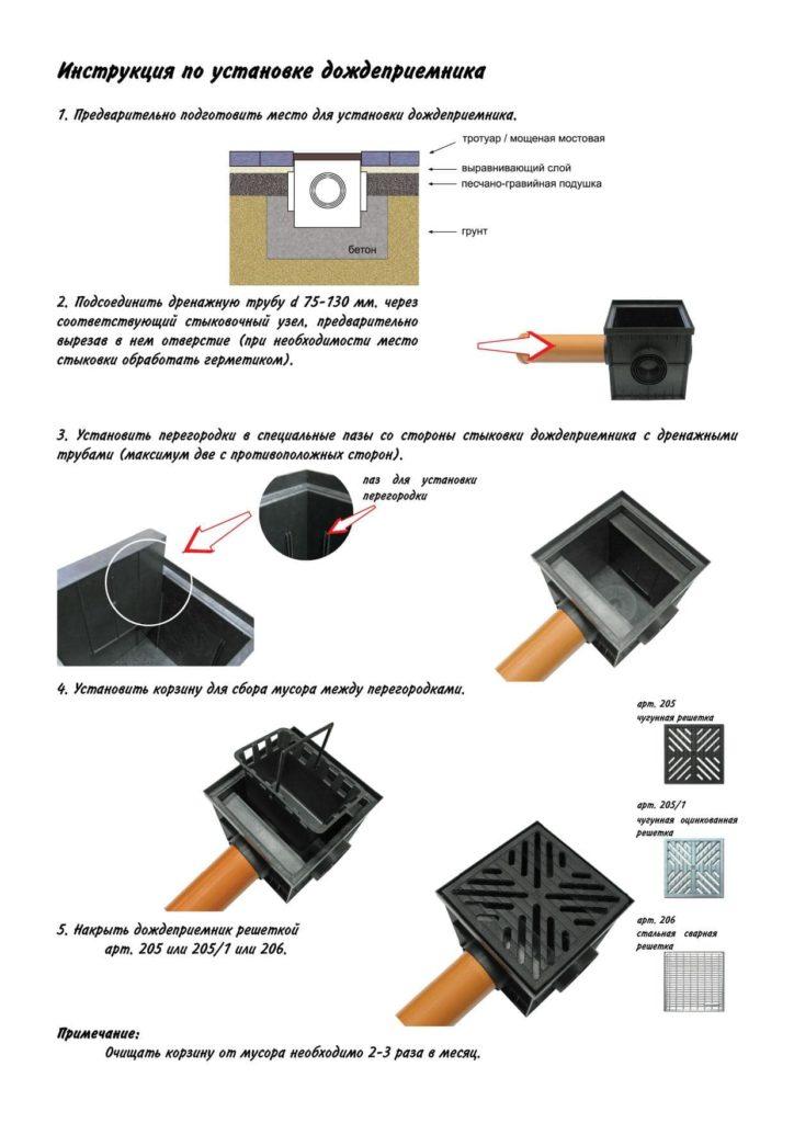 Инструкция по установке дождеприемника