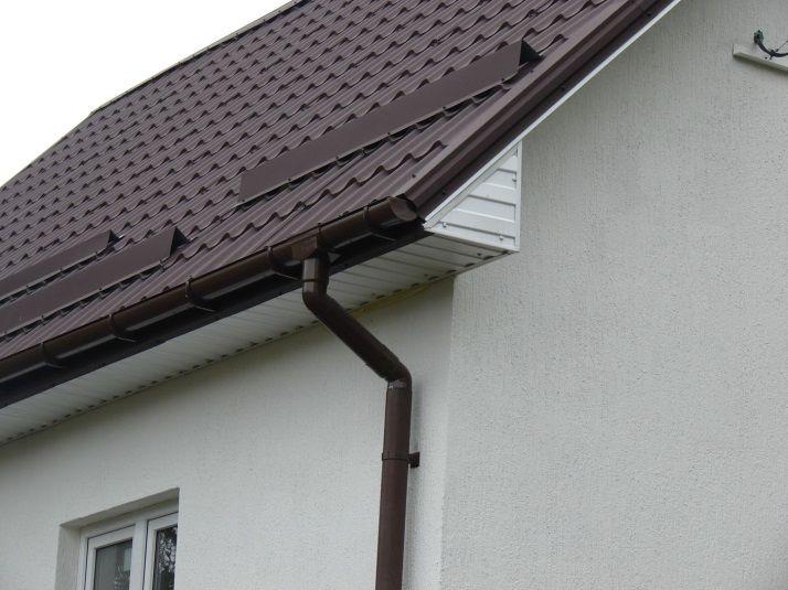 Водосток на готовую крышу